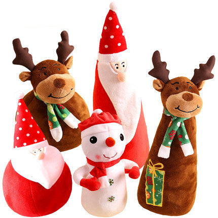 Customised Christmas Gift Santa Doll Toy Snowman Moose ,  corporate gifts