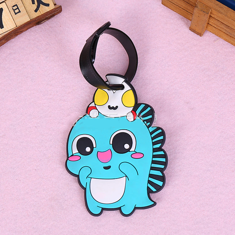 Customised Creative Cute Cartoon PVC Luggage Tag ,  corporate gifts