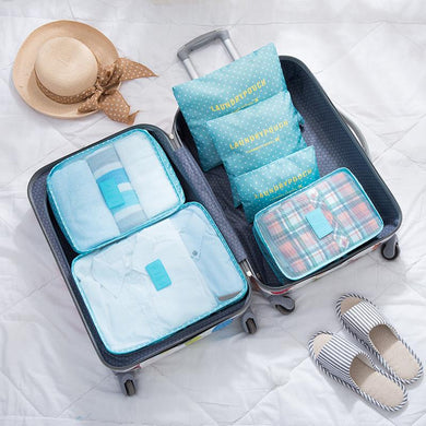 Customised Large Luggage Storage Travel Clothes Underwear Finishing Bag 6-Piece Set ,  corporate gifts