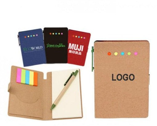 Eco-friendly small book with pen cover custom logo