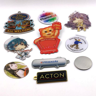 Customised Metal Made Zipper Pet Badge ,  corporate gifts