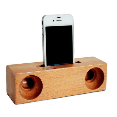 Customised Creative Wooden Mobile Phone Bracket and Amplifier ,  corporate gifts