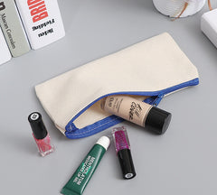 Customised Blank paintable zipper canvas pencil bag , bags corporate gifts