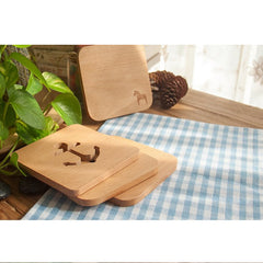 Customised Bamboo teacup mats , Cup Mat corporate gifts