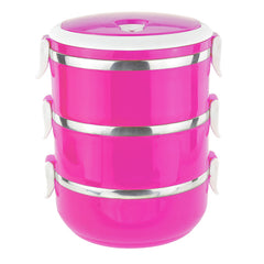 Round bright lunch box