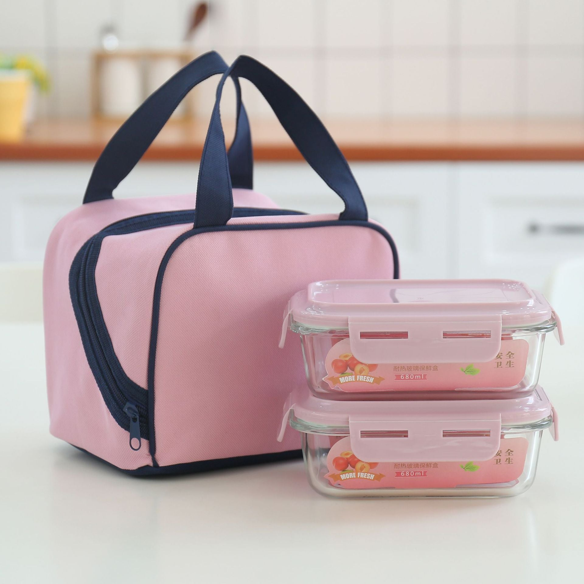Glass microwave oven lunch box