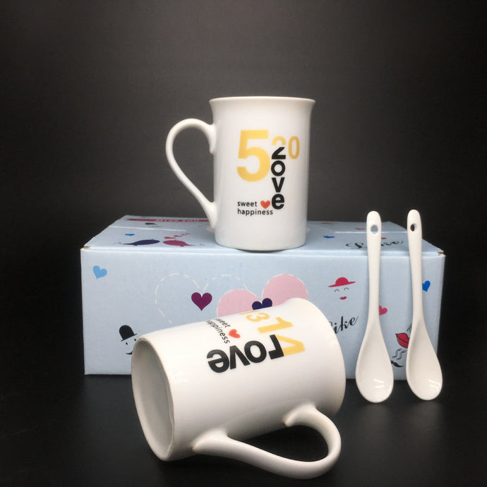 Customised Ceramic Couple Cup ,  corporate gifts