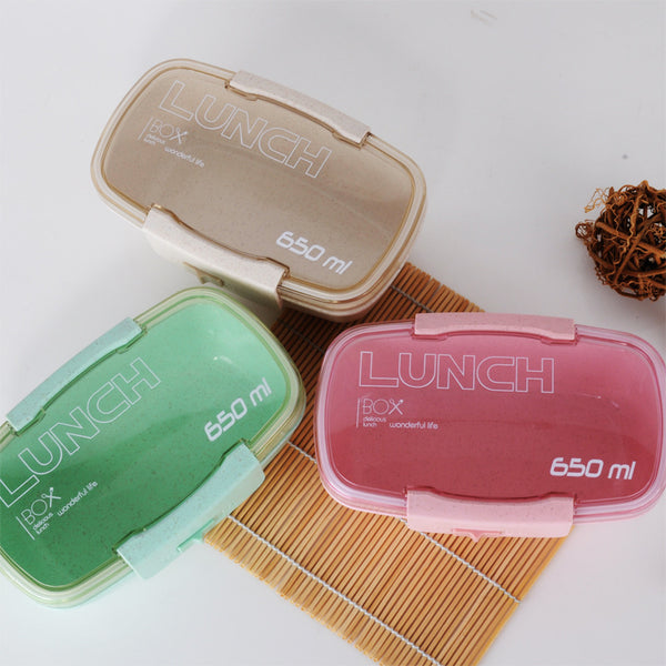 wheat straw lunch box spoon and fork lunch box