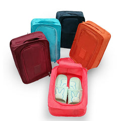 folding solid color small shoe bags.