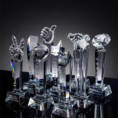 Customised Creative Crystal Awards Trophy ,  corporate gifts