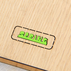 Wood notebook customized