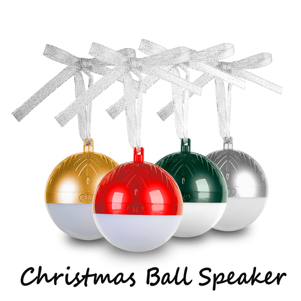 Customised Christmas ball Bluetooth TWS speaker colorful flash lights ,  corporate gifts