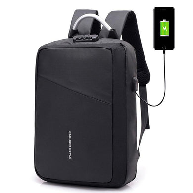 Customised New Anti-Theft Reflective Strip USB charging Computer Bag ,  corporate gifts