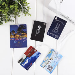 Fashion PVC luggage tag customized