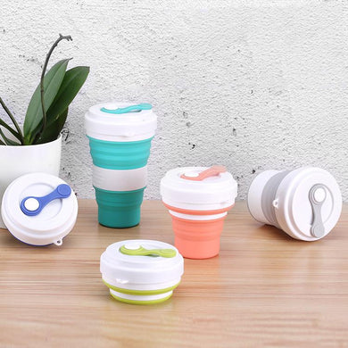 Customised Creative Silicone Folding Cup Candy Color Portable Simple Retractable Coffee Cup ,  corporate gifts