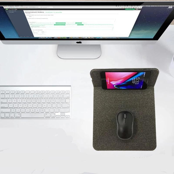 Customised Wireless Charging Folding Bracket Mouse Pad ,  corporate gifts