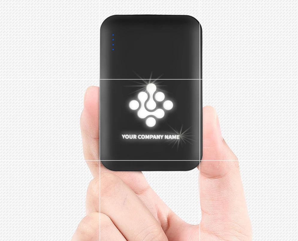 Customised Creative LOGO Light-emitting Mobile Power Bank ,  corporate gifts