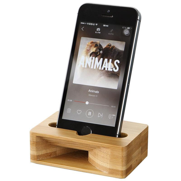 Customised Creative Mobile Phone Amplifier Wooden Bracket ,  corporate gifts