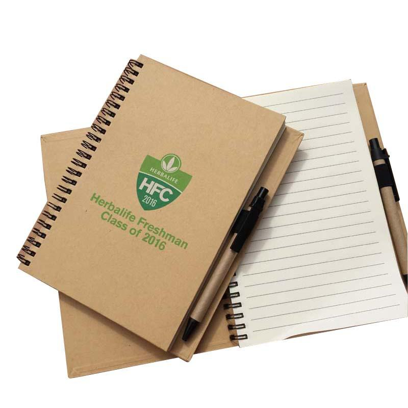 Customised A5 Coil Spiral Notebook with Pen ,  corporate gifts