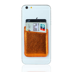 Leather film mobile phone back credit card cover