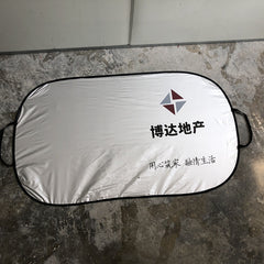 Silver cloth sun shield customized