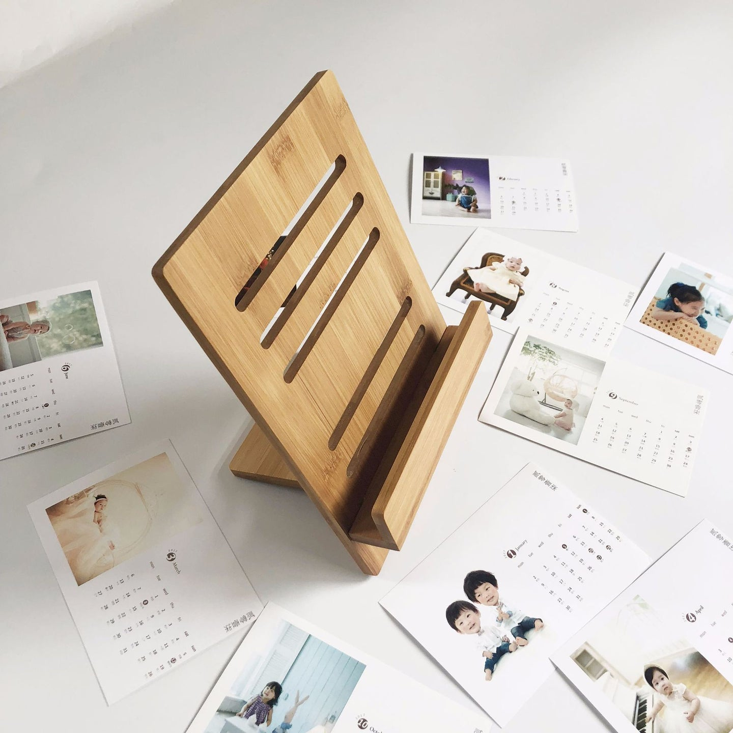 Customised Bamboo Calendar ,  corporate gifts