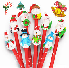 Customised Christmas Pen Santa Claus Snowman Ballpoint Pen ,  corporate gifts