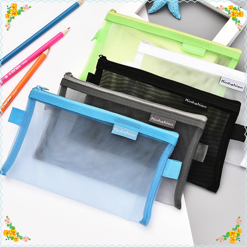 transparent student zipper bag