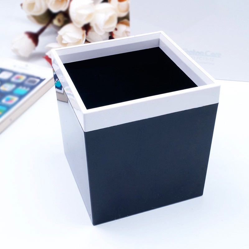 Customised Stationery Black and White Square Office Pen holder ,  corporate gifts