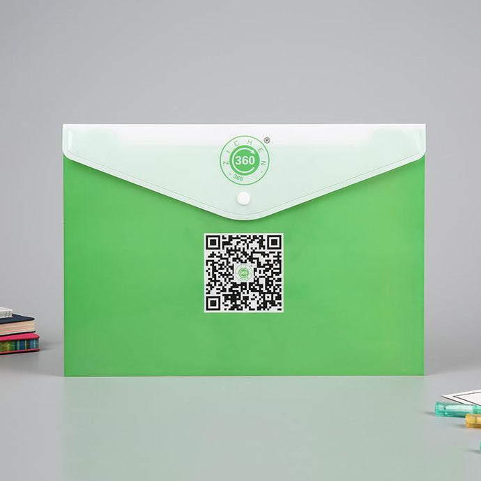 Customised Envelope Shape Color Transparent Stationery Bag ,  corporate gifts