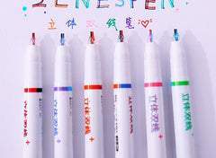 two-color student marker pen