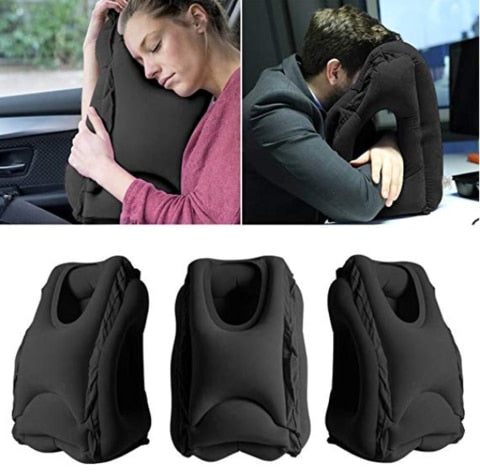 Corporate Gifts - Travel pillow Inflatable pillows air soft cushion trip With back and neck support