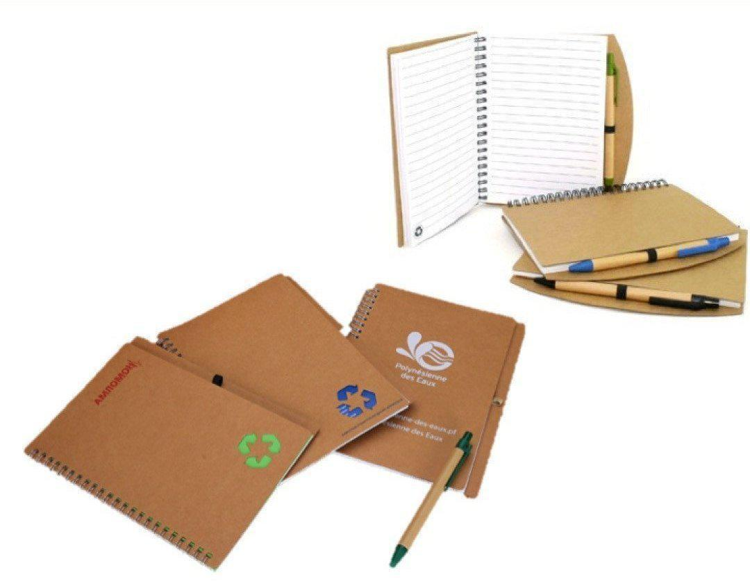 A5 Eco Colorful Notebook With Pen - Corporate Gifts - Apex Gifts and Prints.