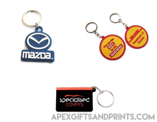 Custom PVC Keychain - Corporate Gifts - Apex Gifts and Prints.