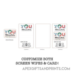 Customised Custom Screen Wipes Cleaner ,  corporate gifts