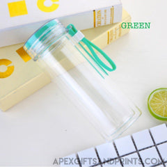 Customised Double Layer Glass Water Bottle ,  corporate gifts