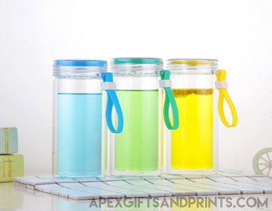Double Layer Glass Water Bottle - Corporate Gifts - Apex Gifts and Prints.