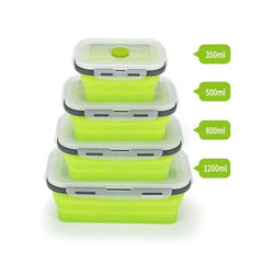 Customised Foldable Silicone Lunch Box Microwavable , foldable silicone lunch box corporate gifts