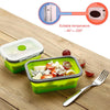 Load image into Gallery viewer, Customised Fordable Silicone Lunch Box Microwavable and Leak proof , foldable silicone lunch box corporate gifts