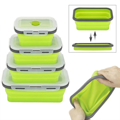 Corporate Gifts - Foldable Silicone Lunch Box Microwavable and Leakproof foldable silicone lunch box