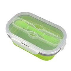 Customised Microwaveable Foldable Lunch Box , foldable silicone lunch box corporate gifts