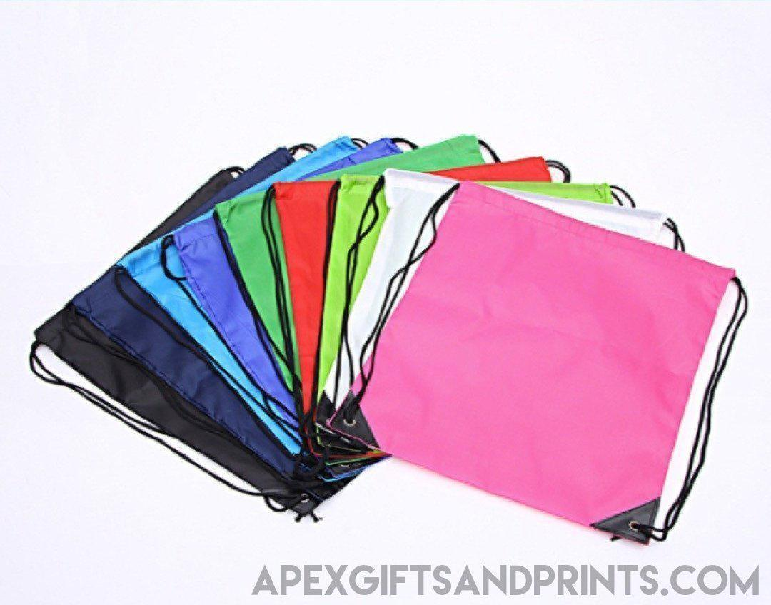 Nylon Drawstring Bag - Corporate Gifts - Apex Gifts and Prints.