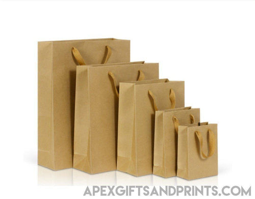 Premium Kraft Paper Bag (260g) - Corporate Gifts - Apex Gifts and Prints.
