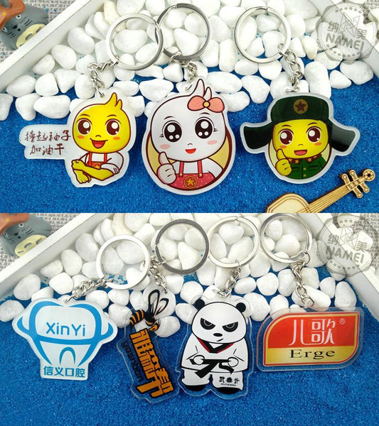 Customised Cartoon acrylic keychain ,  corporate gifts
