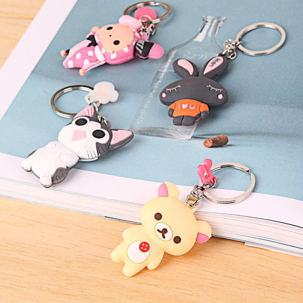 Customised Cartoon double-sided key chain ,  corporate gifts