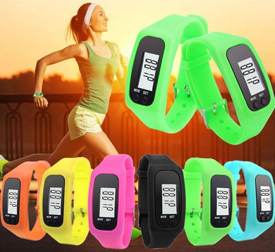 Customised Colored silica gel multi-function pedometer ,  corporate gifts