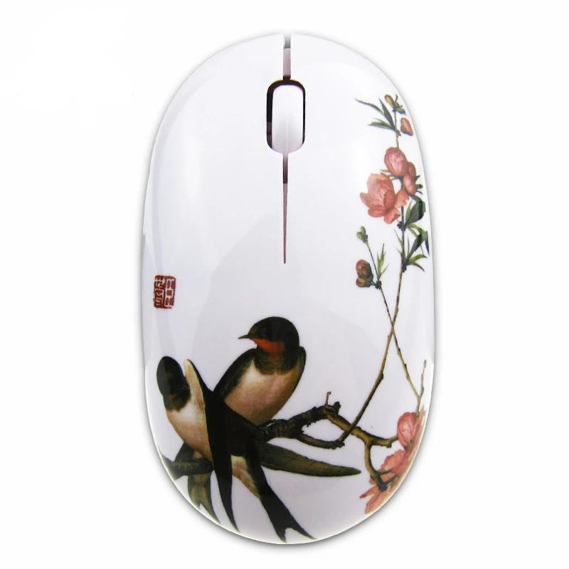 Customised Creative blue and white porcelain reless mouse ,  corporate gifts