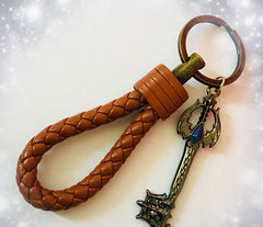 Customised Handmade leather key chain ,  corporate gifts