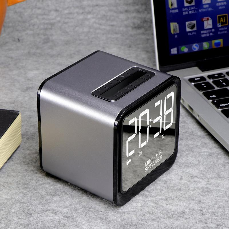 Customised Illuminated Alarm Clock Bluetooth Speaker ,  corporate gifts