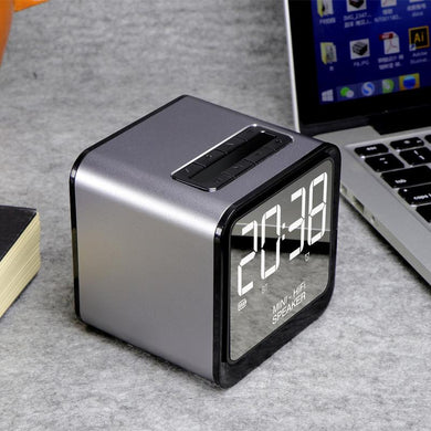 Corporate Gifts - Illuminated Alarm Clock Bluetooth Speaker